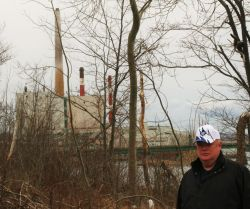 Peter Boyles and the Trenton Generating Station [Photo: Miles Howe]
