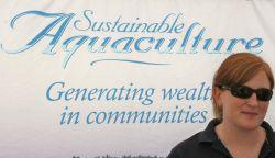 Melissa MacLeod, Public Engagement Coordinator of Aquaculture Association of Nova Scotia (photo: Miles Howe)