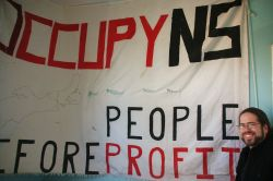 Max Haiven will be presenting lessons from Occupy Wall Street this Tuesday, Nov. 27th [Photo: Miles Howe]
