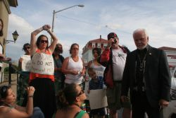 AFN Regional chief speaks to grassroots women. [Photo: Miles Howe]