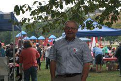 Premier Dexter at the Halifax Labour Day picnic [Photo: M. Howe]