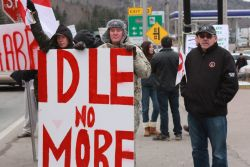 Idle No More on the Canso Causway. [Photo: Jamie Y. Battiste.]