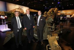 ACOA Minister Keith Ashfield and other sycophants visit an artillery display at the Franborough International Airshow in 2010.