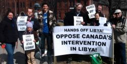 Haligonians take stand against Canada's war on Libya