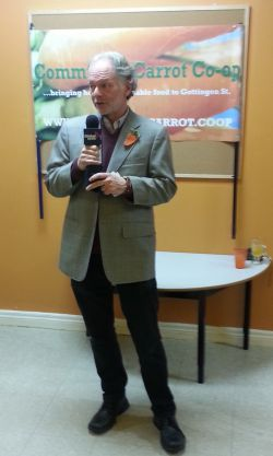 Norman Greenberg, Chair, Community Carrot Cooperative