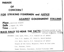 Rally held in Halifax. Courtesy of NS Archives