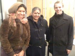 Dr. Vandana Shiva poses with audience members after her talk at Dalhousie University on Monday night. (Photo: Dave Ron)