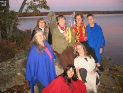 The Shamanic Grandmothers of Nova Scotia. Back row, L-R: Eliza Schurman, Jeanette Poirier, Becca Strople, Sue Bookchin, Maria McKenzie-Cann. Front row, L-R: Carla Silver, Nancy Sherwood.