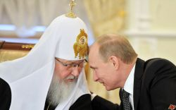 Russian Orthodox Primate Kyrill I and Russian President Vladimir Putin
