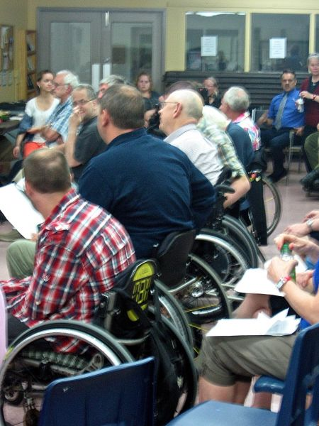 Accessibility issues in every shape and form were addressed at Wednesday's meeting (Natascia Lypny photo).