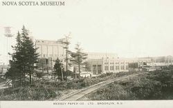 A postcard of the Mersey paper company from 1929. (Nova Scotia Museum)